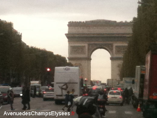 End of the Avenue des Champs Elysees